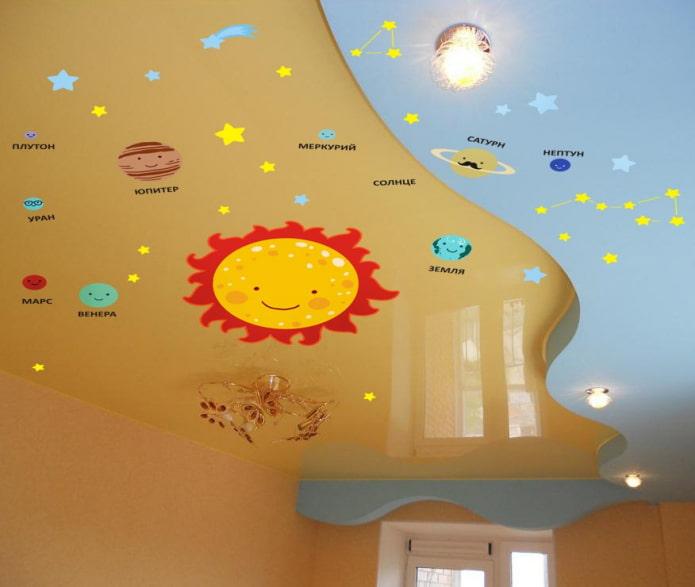 детские наклейки на потолок