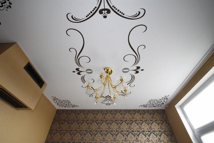 наклейки на потолке