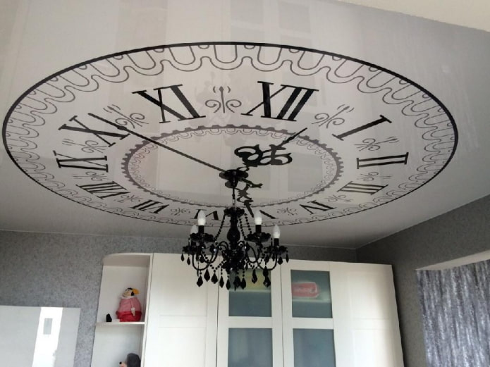 часы на потолке