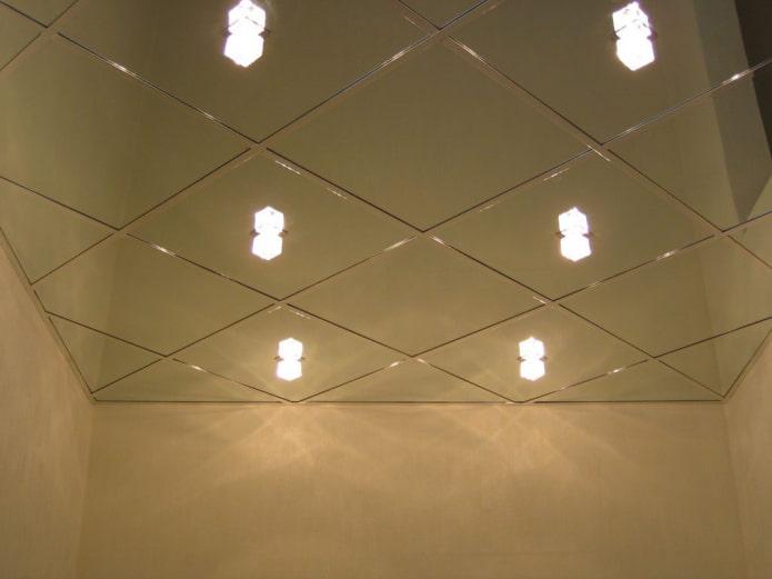 зеркальная кассетная подвесная конструкция
