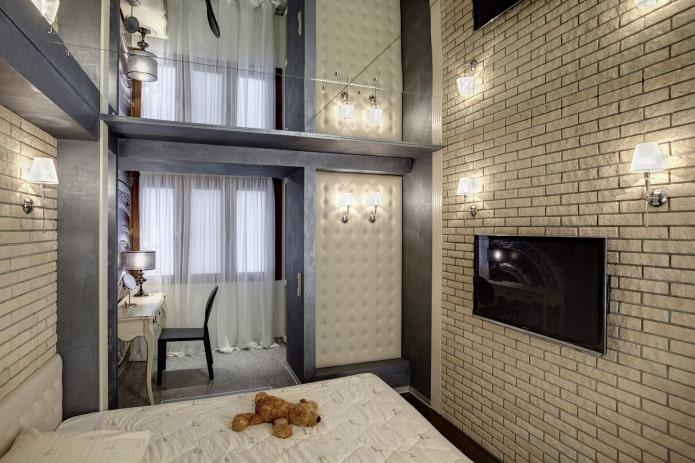 зеркальная потолок в спальне