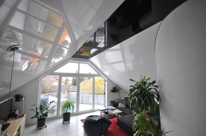 80 фото натяжных потолков: современные идеи, примеры дизайна