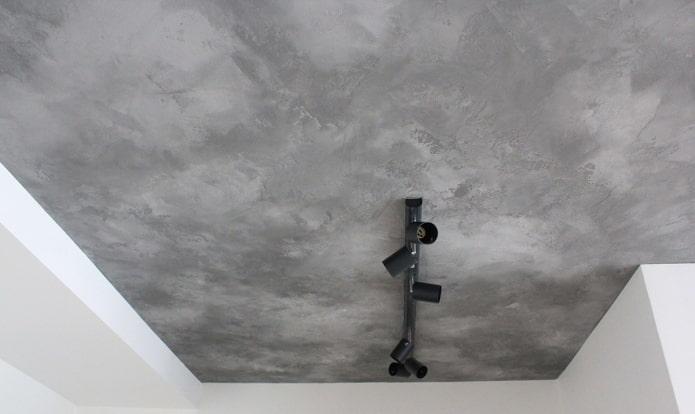 натяжное полотно под бетон