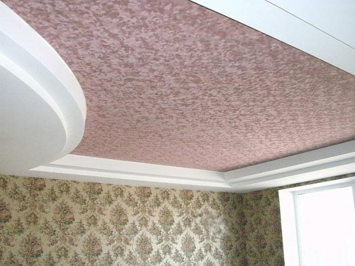 текстурное замшевое натяжное полотно