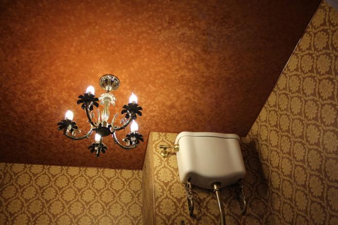 потолок с бархатной текстурой