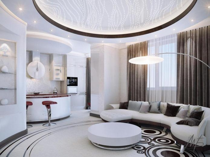 потолок с закругленными углами