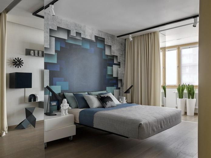 дизайн стен в комнате подростка
