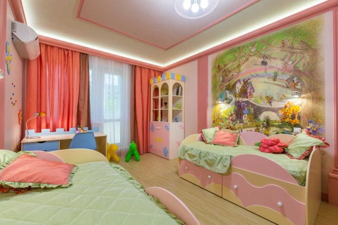 панно на стене в интерьере детской