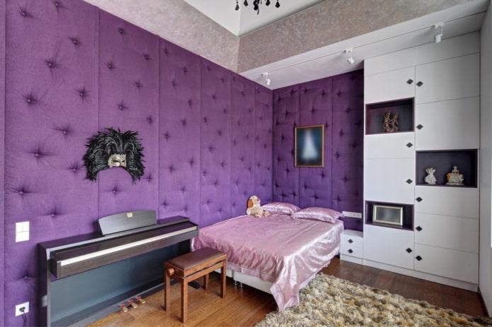 мягкие стеновые панели в детской