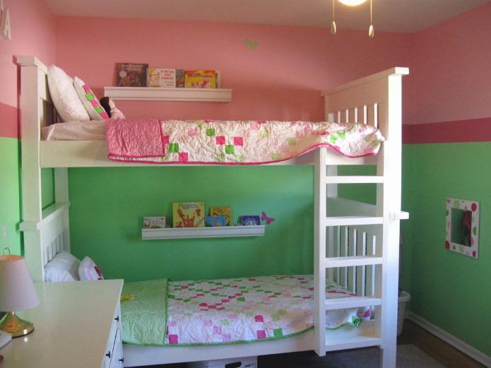 дизайн стен в комнате для разнополых детей
