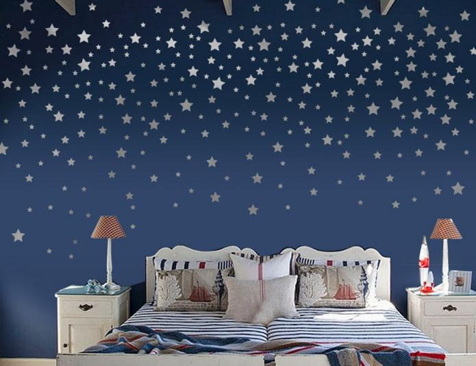 настенные наклейки в виде звезд в детской