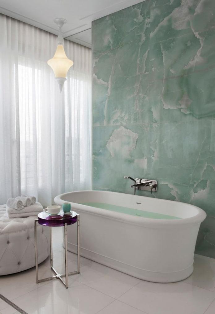 штукатурка в интерьере ванной