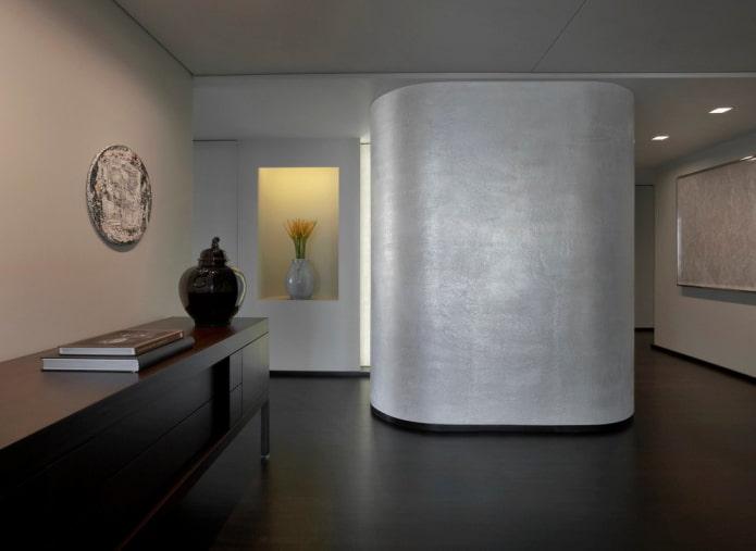Декоративная штукатурка в прихожей и коридоре: 50 фото в интерьере, особенности отделки