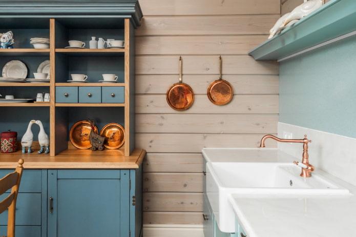 декор кухонных стен в стиле прованс