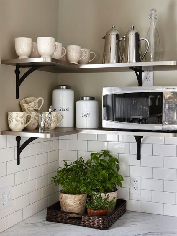 угловой декор на кухне