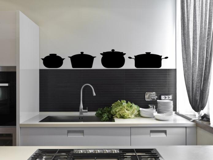 декоративная наклейка на стене на кухне
