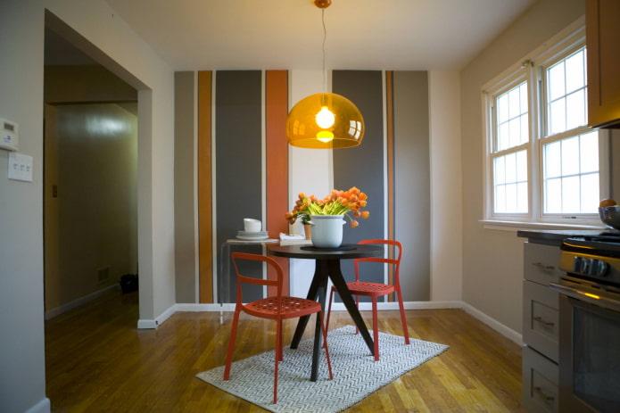 цветовые сочетания на стенах в интерьере кухни