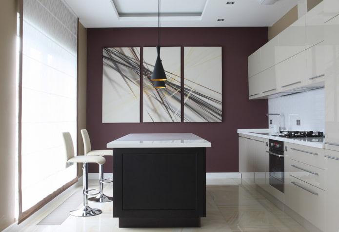 Стены на кухне: варианты отделки, выбор стиля, дизайн, нестандартные решения