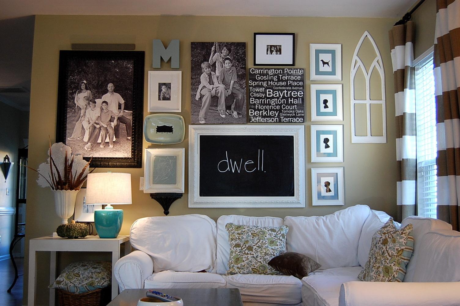 зависимости настроения декор стены в гостиной фото своими руками этого архитектору пришлось