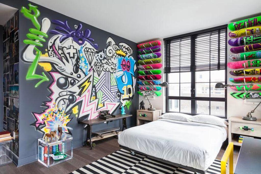 картинки комнаты с граффити фасады индустриальных