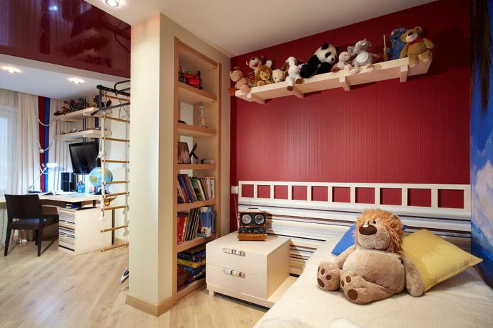 Стеллаж-перегородка для зонирования комнаты: 50 фото, дизайнерские идеи