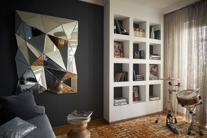 Зеркало с фацетом в интерьере: 40 фото, красивые идеи оформления