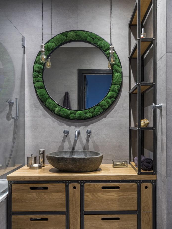 декор зеркального изделия в эко-стиле
