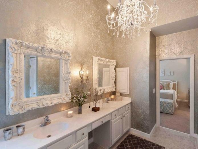 декор зеркального изделия в классическом стиле