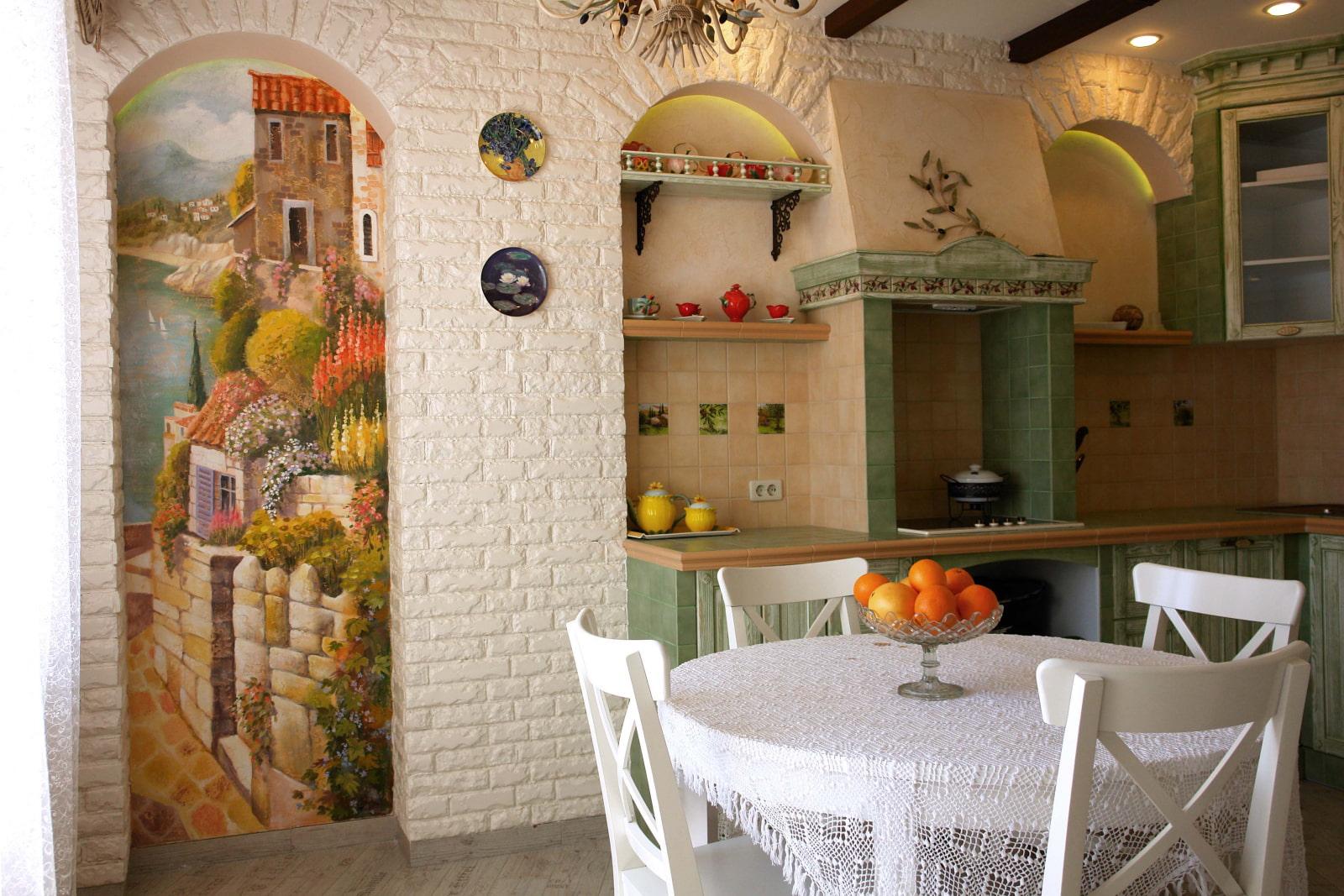 заявили, фрески небольшие на кухне фото позже все