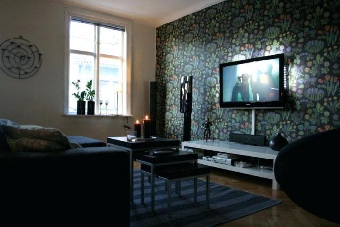 как спрятать провод от телевизора в гостиной