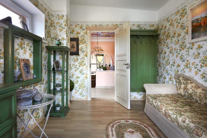 распашные двери в интерьере в стиле прованс