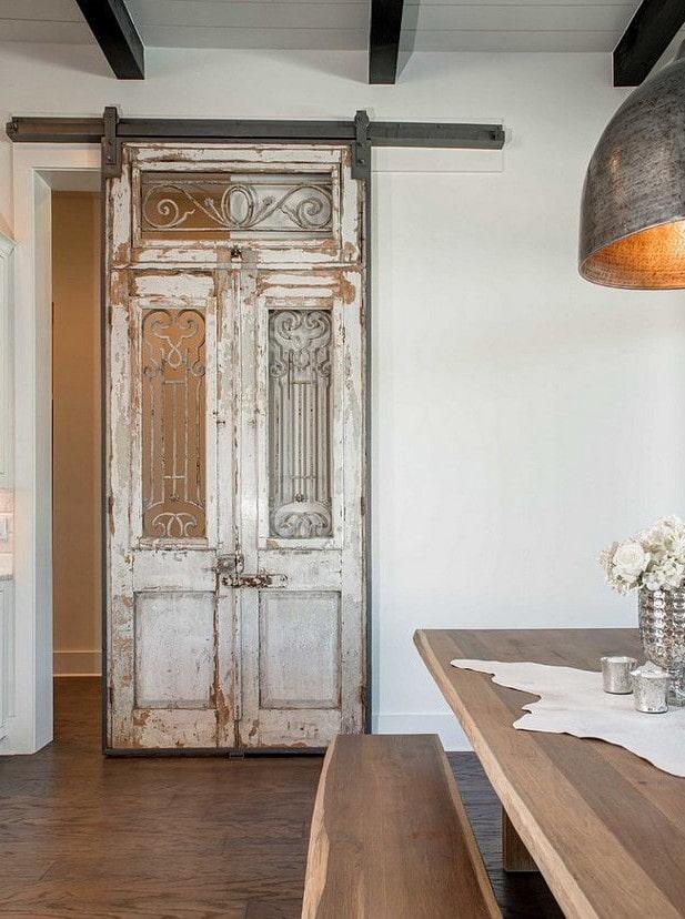 раздвижные двери в интерьере в стиле прованс