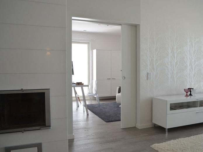 Межкомнатная дверь-купе в скандинавском стиле