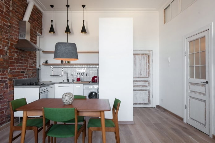 межкомнатные двери на кухне в стиле лофт