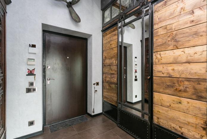 металлические двери в интерьере в стиле лофт