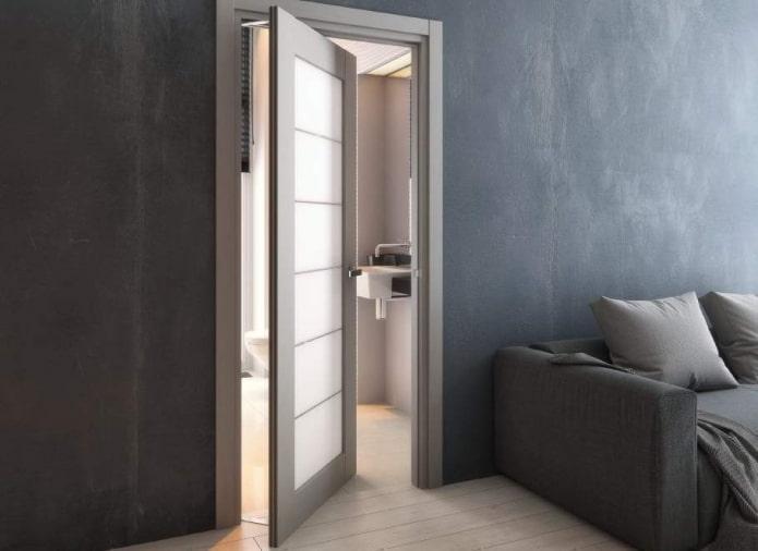 рото-двери в интерьере в стиле лофт