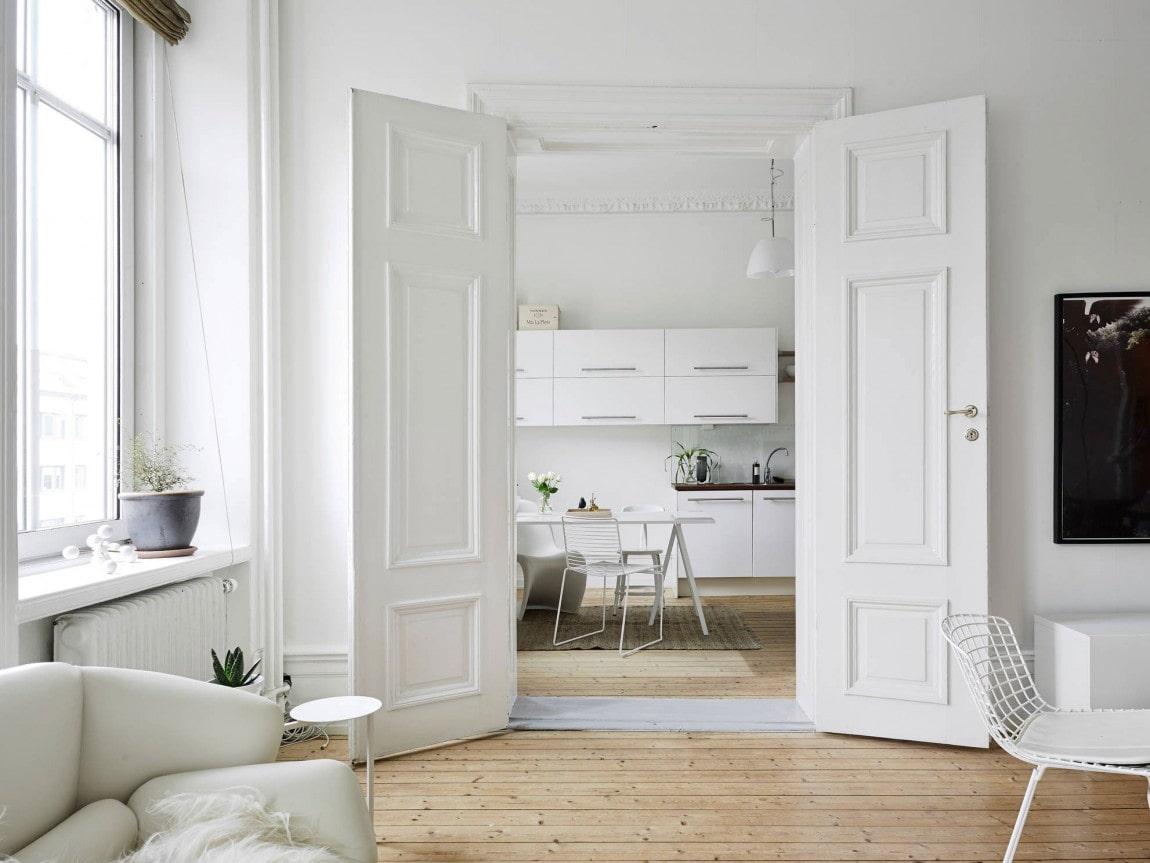 Двери в скандинавском стиле: 40 фото в интерьере, современные идеи оформления