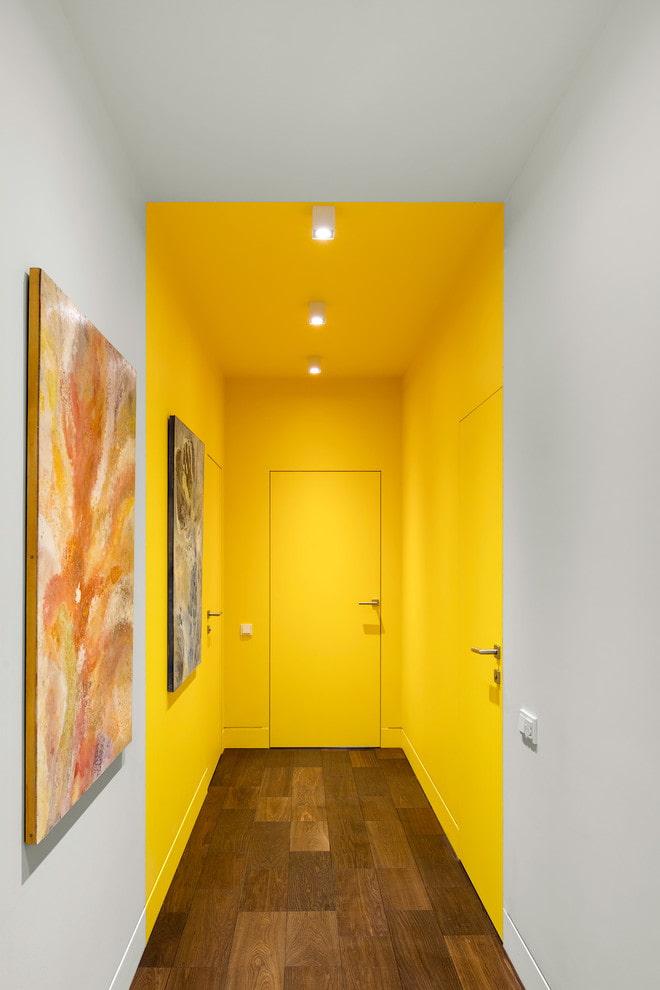 двери и пол противоположного цвета в интерьере