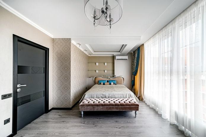 сочетание цвета дверных полотен с напольным покрытием в интерьере