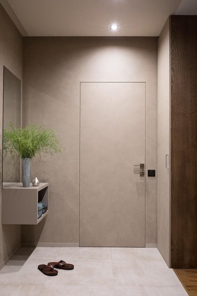 двери светлого оттенка в современном стиле
