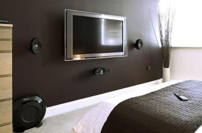 Телевизор на стене: 70 фото в интерьере, дизайнерские идеи оформления