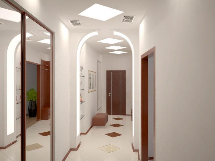 Арка в прихожей и коридоре: 50 фото в интерьере, красивые идеи оформления