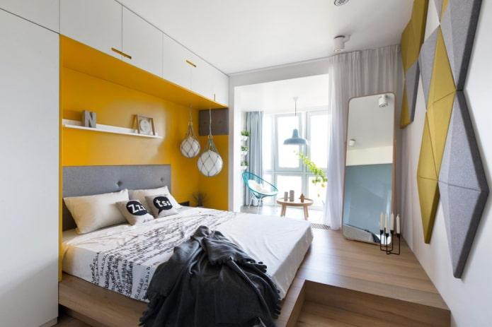 Кровать в нише: 50 фото, идеи для спальни, студии, однокомнатной квартиры