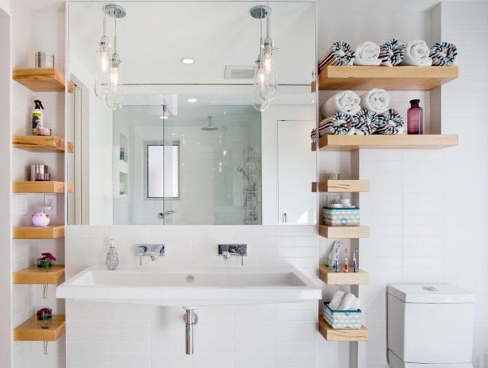 ниши для хранения полотенец в ванной