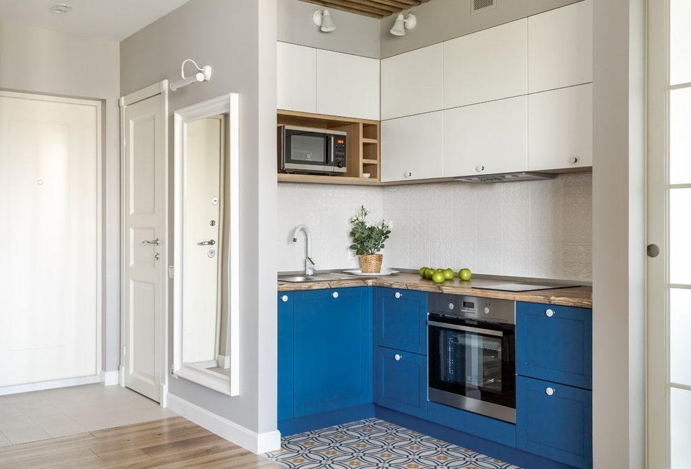 кухня ниша в квартире студии фото складка