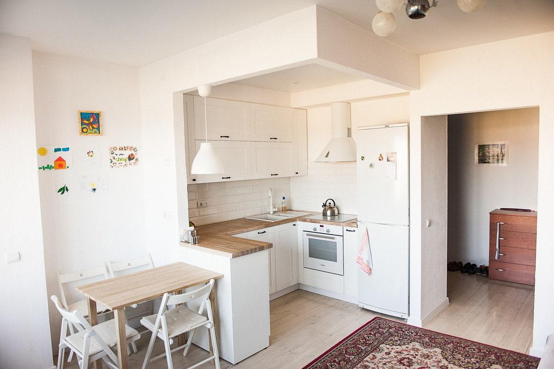 кухня ниша в квартире студии фото все уровни