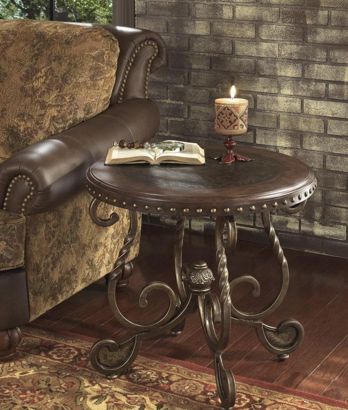 Столы с кованными ножками