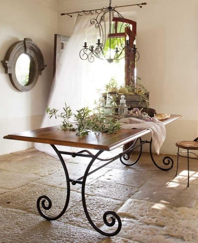 Кованые столы: 60 фото в интерьере, роскошные идеи оформления