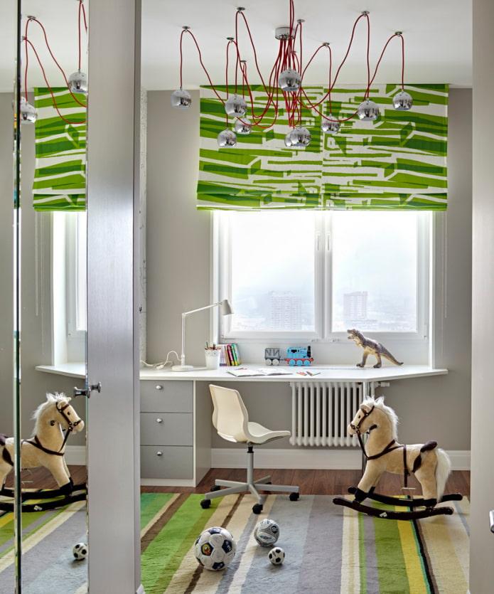 Стол у окна в детской комнате: фото в интерьере, идеи для девочек и мальчиков