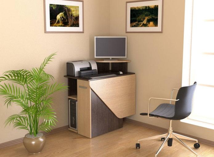 Компьютерный стол: 90 фото в интерьере, современные идеи оформления